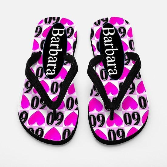 60th Love Pink Flip Flops