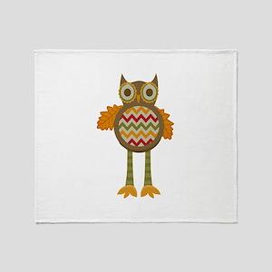 WHIMSICAL FALL OWL Throw Blanket