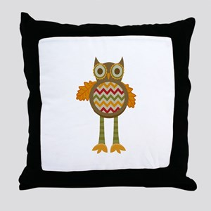 WHIMSICAL FALL OWL Throw Pillow