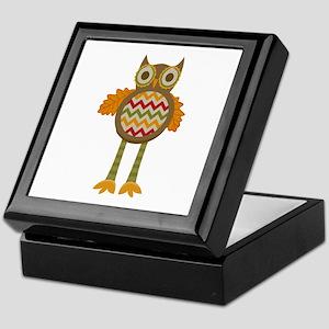WHIMSICAL FALL OWL Keepsake Box