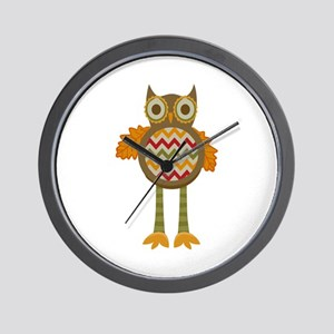 WHIMSICAL FALL OWL Wall Clock