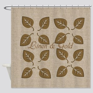 Chic Glam Gold Leaf Shower Curtain