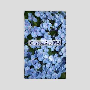 Springtime Hydrangea Flowers to Customize Area Rug