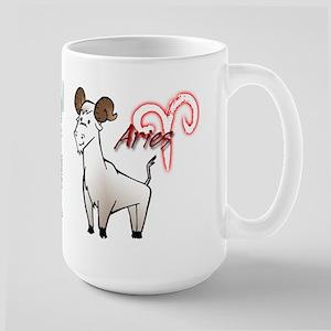Cartoon Aries Large Mug