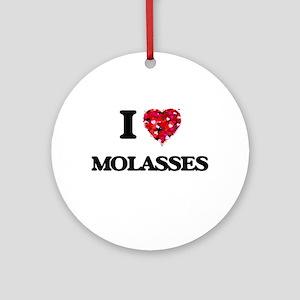 I Love Molasses Ornament (Round)