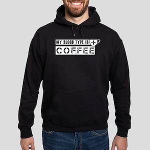 My blood type is coffee Hoodie (dark)