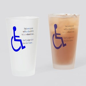Disability Message Drinking Glass