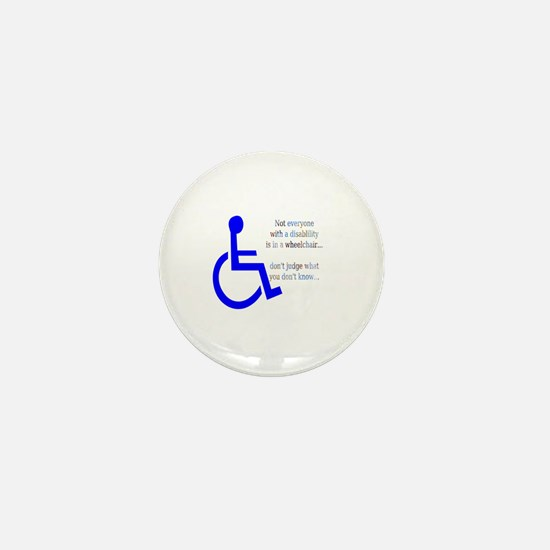 Disability Message Mini Button