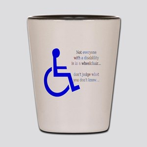 Disability Message Shot Glass