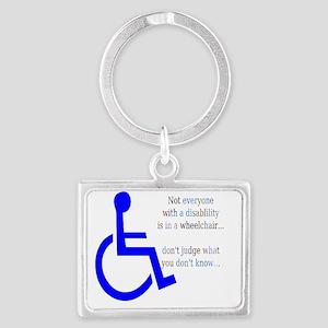 Disability Message Landscape Keychain