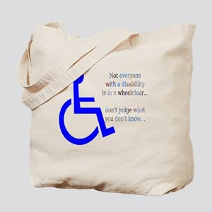 Disability Message Tote Bag