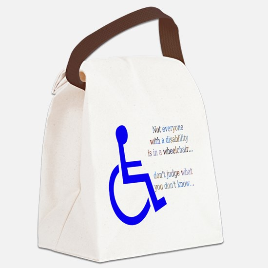 Disability Message Canvas Lunch Bag