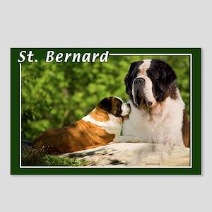 St Bernard-2 Postcards (Package of 8)