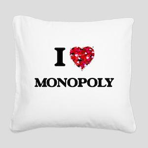I Love Monopoly Square Canvas Pillow