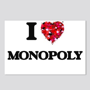 I Love Monopoly Postcards (Package of 8)