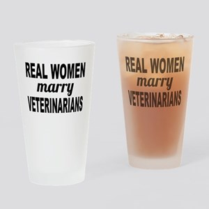 Real Women Marry Veterinarians Drinking Glass