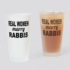 Real Women Marry Rabbis Drinking Glass