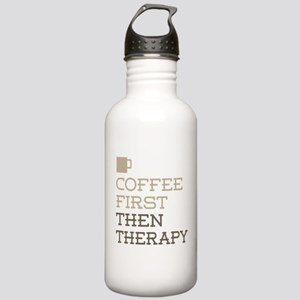 Coffee Then Therapy Stainless Water Bottle 1.0L