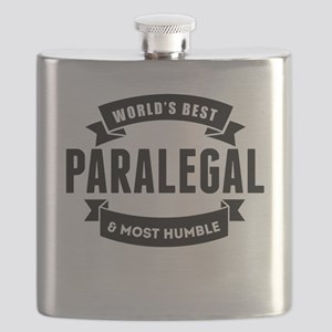 Worlds Best And Most Humble Paralegal Flask