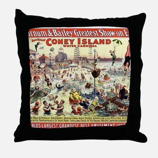 The Barnum and Bailey Greatest Show o Throw Pillow