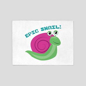 Epic Snail 5'x7'Area Rug