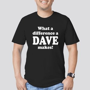 What a difference a Da Men's Fitted T-Shirt (dark)