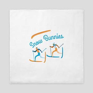 Snow Bunnies Queen Duvet