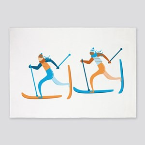 Snow Ski 5'x7'Area Rug