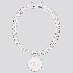 Pastel I Love You Charm Bracelet, One Charm