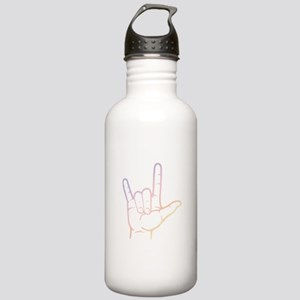 Pastel I Love You Stainless Water Bottle 1.0L