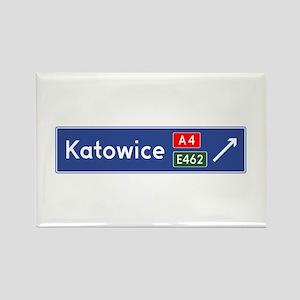 Katowice Roadmarker (PL) Rectangle Magnet