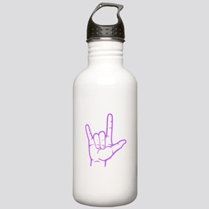 Purple I Love You Stainless Water Bottle 1.0L