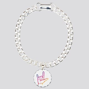 Rainbow I Love You Charm Bracelet, One Charm