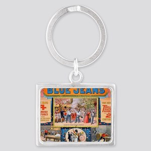 Blue jeans will never wear out Landscape Keychain