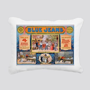 Blue jeans will never we Rectangular Canvas Pillow