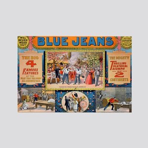 Blue jeans will never wear out Rectangle Magnet