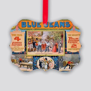 Blue jeans will never wear out Picture Ornament