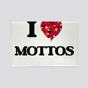 I Love Mottos Magnets