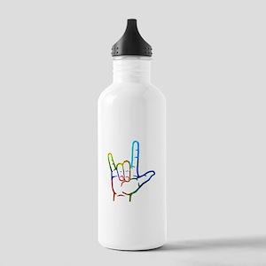 Rainbow Burst I Love Y Stainless Water Bottle 1.0L