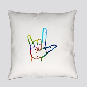 Rainbow Burst I Love You Everyday Pillow