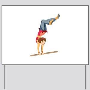 Hand Stand Yard Sign