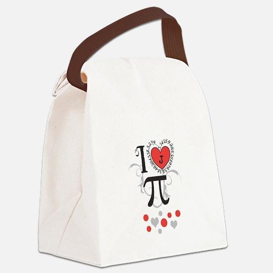 Custom Monogram Pi Canvas Lunch Bag