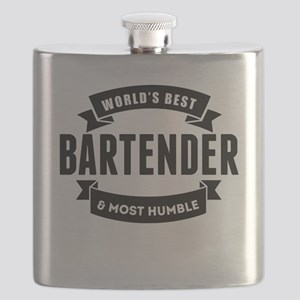 Worlds Best And Most Humble Bartender Flask