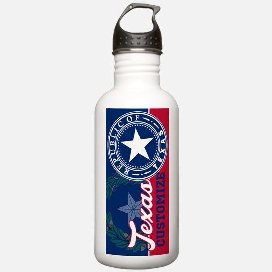 Personalized Texas Fla Water Bottle