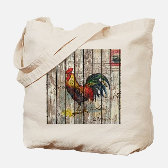 rustic farm country rooster Tote Bag