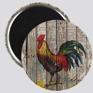 rustic farm country rooster Magnet