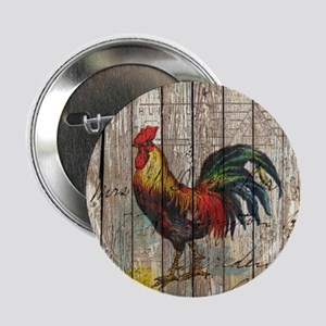 """rustic farm country rooster 2.25"""" Button"""