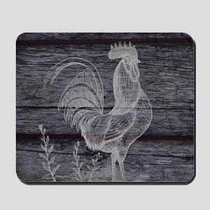 rustic farm country rooster Mousepad