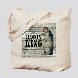 funny pig bacon king Tote Bag