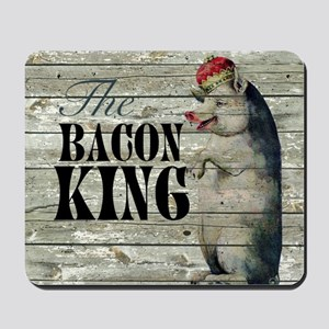 funny pig bacon king Mousepad
